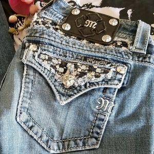 Miss Me Jean's sz 26x35 boot cut/rhinestones/studs